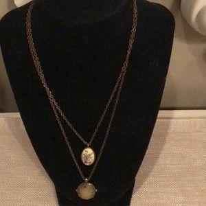 LUCKY BRAND 2 Strand Reversible Pendant Necklace
